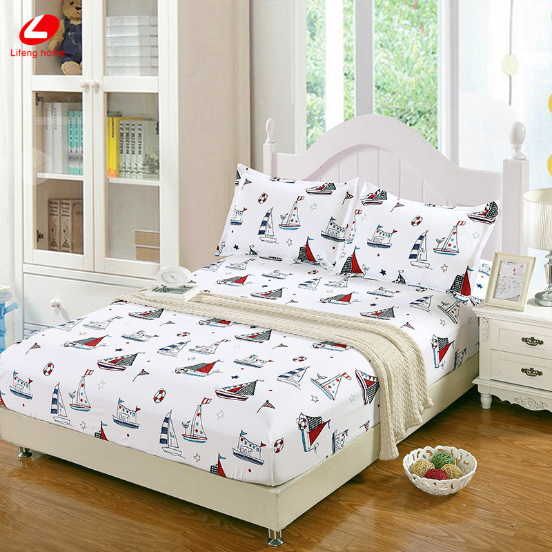 Home textile bed sheet sheet flower mattress cover printing bed sheet elastic rubber bedclothes 180*200cm summer bedspread band 51
