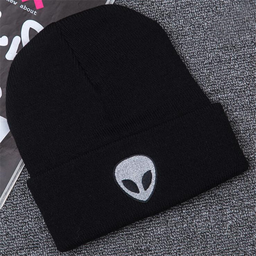 Hot New Alien Extra-terrestrial Cosplay Costumes Accessories Hat Men Women Embroidery Knitted Lovers Ghost Cap Autumn Winter