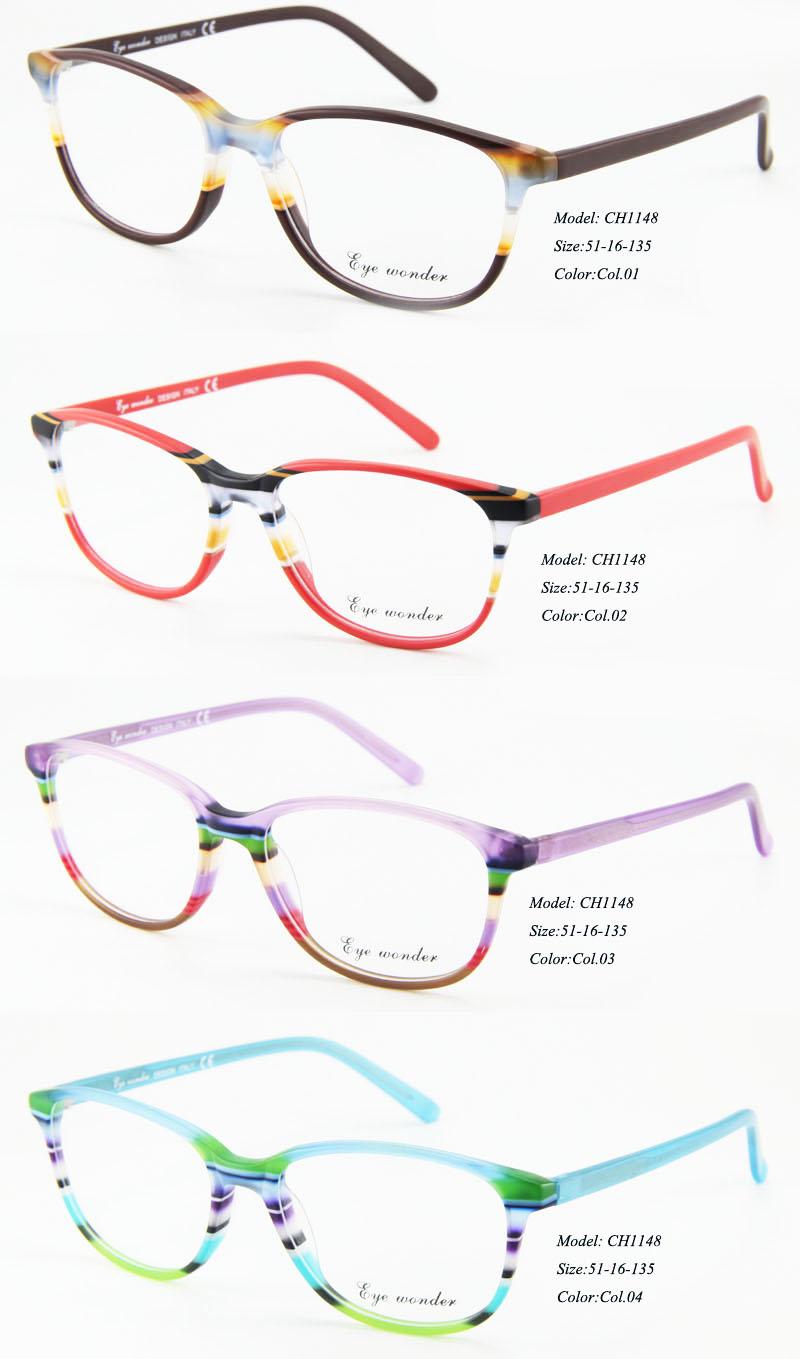 d701496d45d Eye wonder Wholesale Women Fashion Acetate Glasses Frames Gafas-in ...