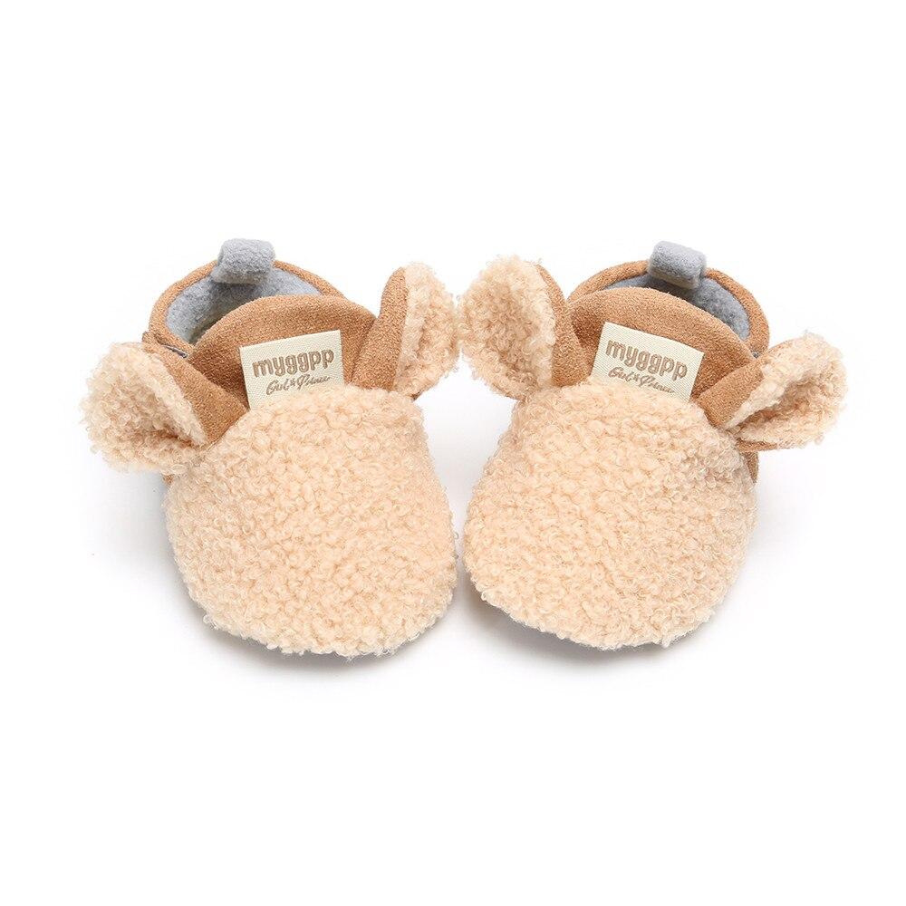 2018 Sapatos Inverno Quente Cordeiro Rastejando Bebê Recém-nascido Bonito Orelhas Crianças Formadores Fur Primeiros Walkers Suave Sole Anti-slip atacado