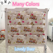 Promotion Cartoon 62 52cm Baby Cot Bed Hanging Storage Bag Newborn Crib Organizer Cotton Toy Diaper