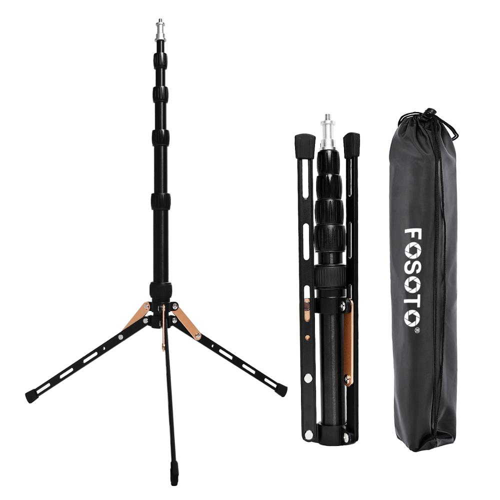 FOSOTO FT-140 Portable Led Light Tripod Stand For Camera Phone Photographic Lighting Flash Umbrellas Reflector Photo Studio