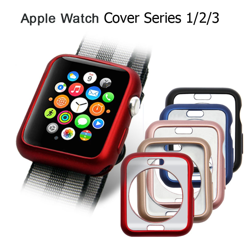 Oil Soft TPU Watch Case For Apple Watch Series 1/2/3 Cover Case Perfect Match Shell 38mm 42mm StrapOil Soft TPU Watch Case For Apple Watch Series 1/2/3 Cover Case Perfect Match Shell 38mm 42mm Strap