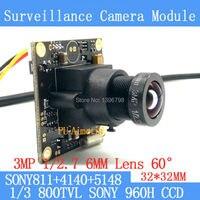 32 32mm Surveillance Camera 800TVL 1 3 Effio CCD Sony 811 4140 5148 CCTV Camera Module