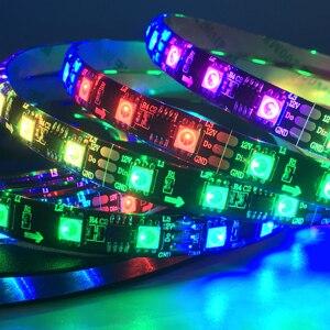 DC12V WS2811 5050 RGB Адресуемая светодиодная Пиксельная полоса света полноцветная светодиодная лента Гибкая цифровая светодиодная лента 1 Ic управл...