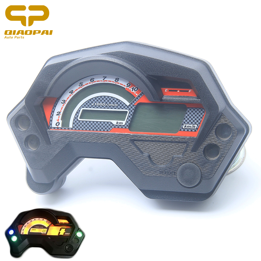 Moto Compteur De Vitesse Numérique Universel Électronique Indicateur LCD Affichage Accessoires Pièces pour Café Racer Compteur De Vitesse Yamaha