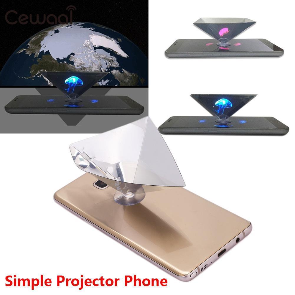 Transparent Hologram Film 3D Projection Film for 3.5-6inch Phone Cinema Photo Studio Premium Universal