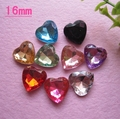 very hot and kawaii 3D acrylic rhinestone do not flat back gems 50pcs mixed 9colors 16mm