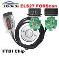 Mais novo Leitor de Código OBD2 ELS27 FORScan Trabalha Para Ford/Mazfa/Lincoln/Mercury FTDI Chip de PCB Verde + PIC24HJ128GP Melhor Do Que ELM327