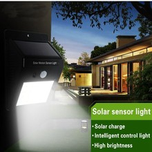 LED Solar Power Wall Light PIR Motion Sensor 20 LED Outdoor Waterproof Energy Saving Street Yard Path Home Garden Lamp(China)