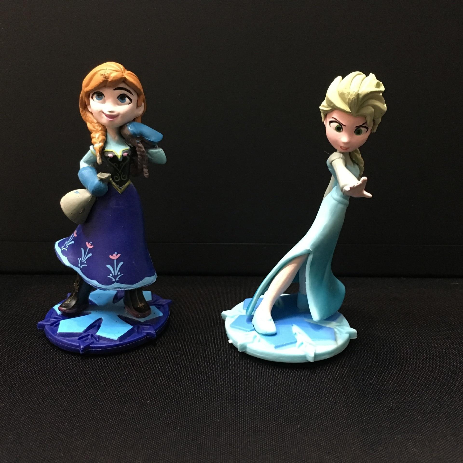9cm Elsa Anna Princess Hand Action anime Figure Model Toys Decoration toys for children Christmas gift