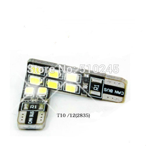 30X CANBUS T10 LED 12 2835 SMD WHITE LIGHTS ERRO FREE 194 168 W5W 2825 BULB LAMP free shipping