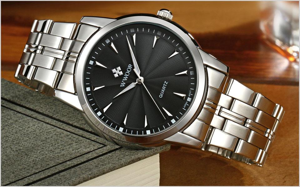 Topdudes.com - WWOOR Top Brand Luxury Waterproof Stainless Steel Japan Citizen Movement Watches