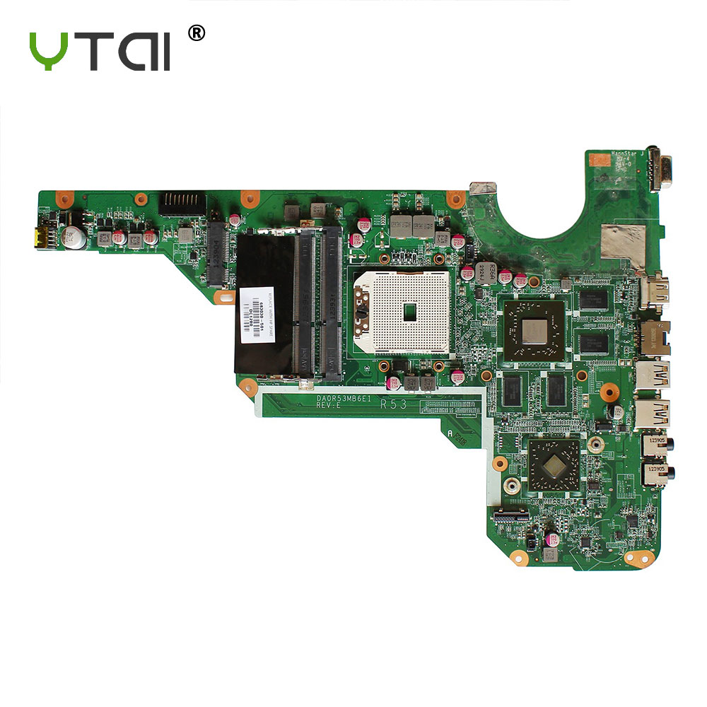 YTAI Original For HP G4 G6 G7 G4-2000 G6-2000 G7-2000 683030-501 laptop notebook motherboard DA0R53MB6E1 SOCKET S1 DDR3 HD76701G