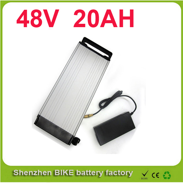 ebike 1000W lithium battery 48V 20 AH Aluminium Case rear rack bike electric bicycle lithium battery   For Samsung pack ebike 1000w lithium battery 48v 20 ah aluminium case rear rack bike electric bicycle lithium battery for samsung pack