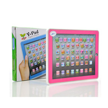 YS2921C Y-Pad English Learning Computer Y PAD Learning Toys For Kids,Pink and Blue Mixed,Music and Led Light Free shipping