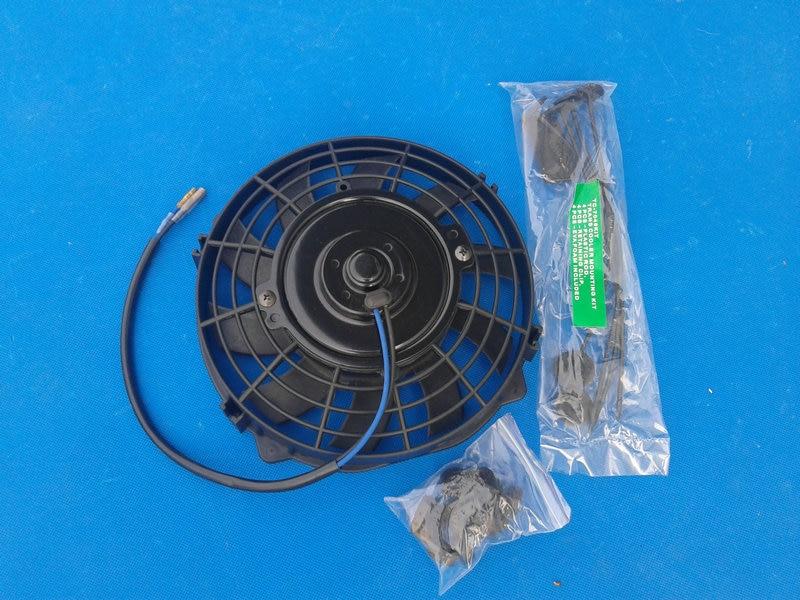 "2x 14/"" Black Electric Slim Push Pull Engine Bay Cooling Radiator Fan Universal 1"
