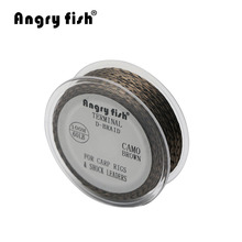 Angryfish Carp Fishing Line D-braid 100 meters camo fishing line 12X braid line