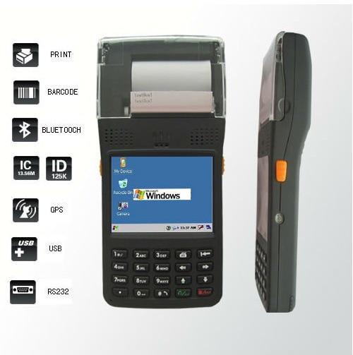Windows Mobile 6 5 Pda Phone Handheld Terminal Printer 1d