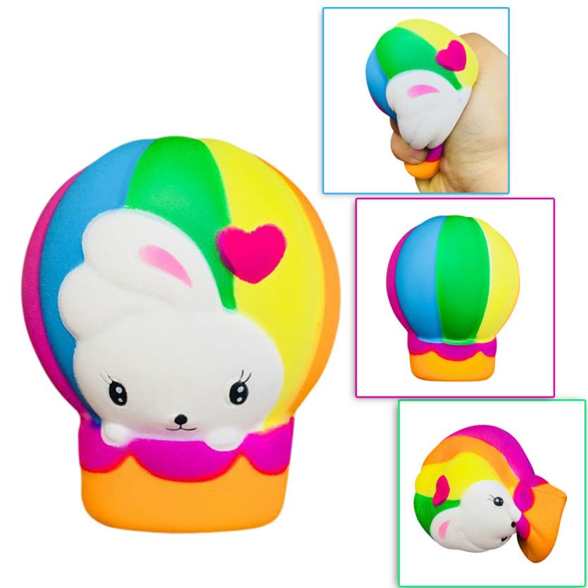 MUQGEW 2018 Fun Stress Reliever Gifts Cute Hot Air Balloon Scented Cream Squeeze Decompr ...