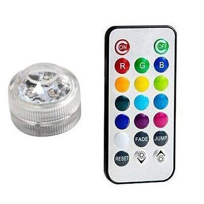 Подводные светодиодные лампы водонепроницаемый SMD3528 RGB подводный ночник Свадебный Чай Ваза-лампа чаша вечерние новогодние гирлянды - Испускаемый цвет: 1 Lamp 1 controller