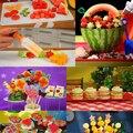 Talla de Ensalada de Frutas Vegetales útiles Arreglos De Frutas Batido Barra de Herramientas de La Torta de Cocina Accesorios De Cocina Suministros de Productos