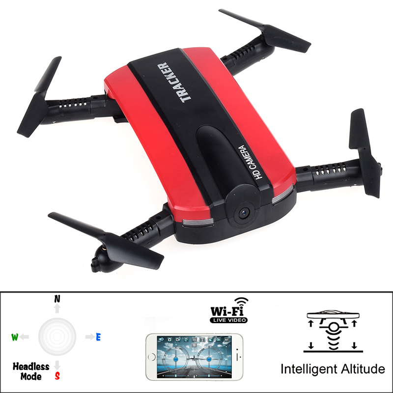 New Wireless control Mini Elfie RC FPV Foldable Pocket Drone jxd-523 Altitude Hold Headless Mode RC Helicopter