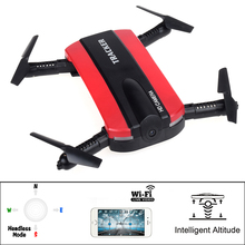 New Wireless control Mini Elfie RC FPV Foldable Pocket Drone jxd523 Altitude Hold Headless Mode RC Helicopter vs H37 h31