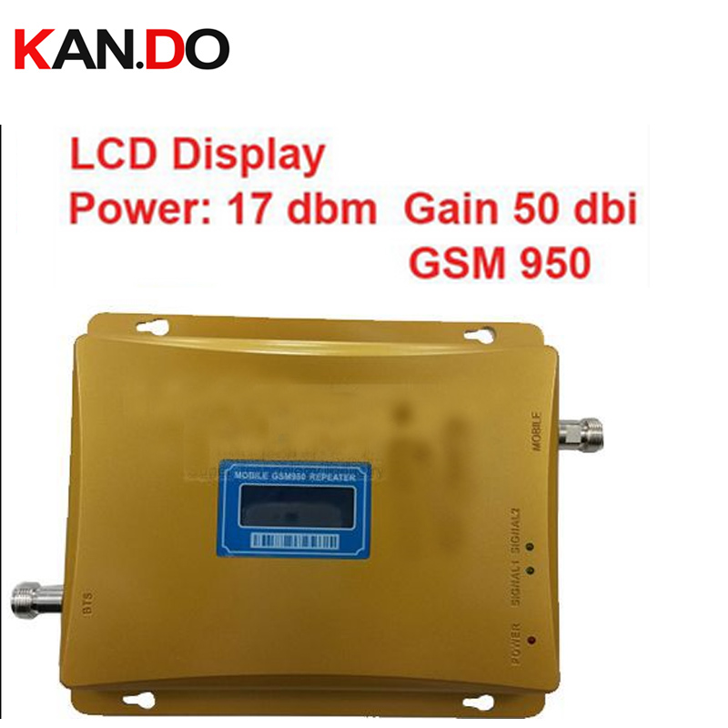 2014  New Model 950 Power 17 Dbm Gain 55dbi LCD Display GSM 900mhz Mobile Phone Signal Booster Repeater GSM Booster GSM Repeater