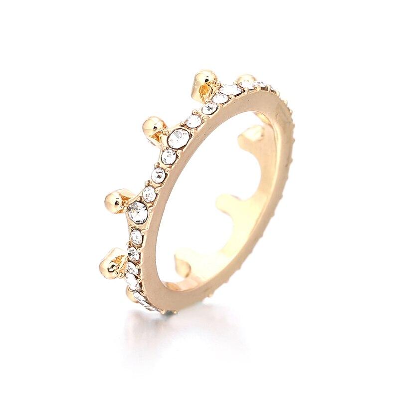 Модные плетеные кольца с кристаллами для женщин, золото/серебро/розовое золото, тонкое женское кольцо, вечерние ювелирные изделия для помолвки - Цвет основного камня: RG013