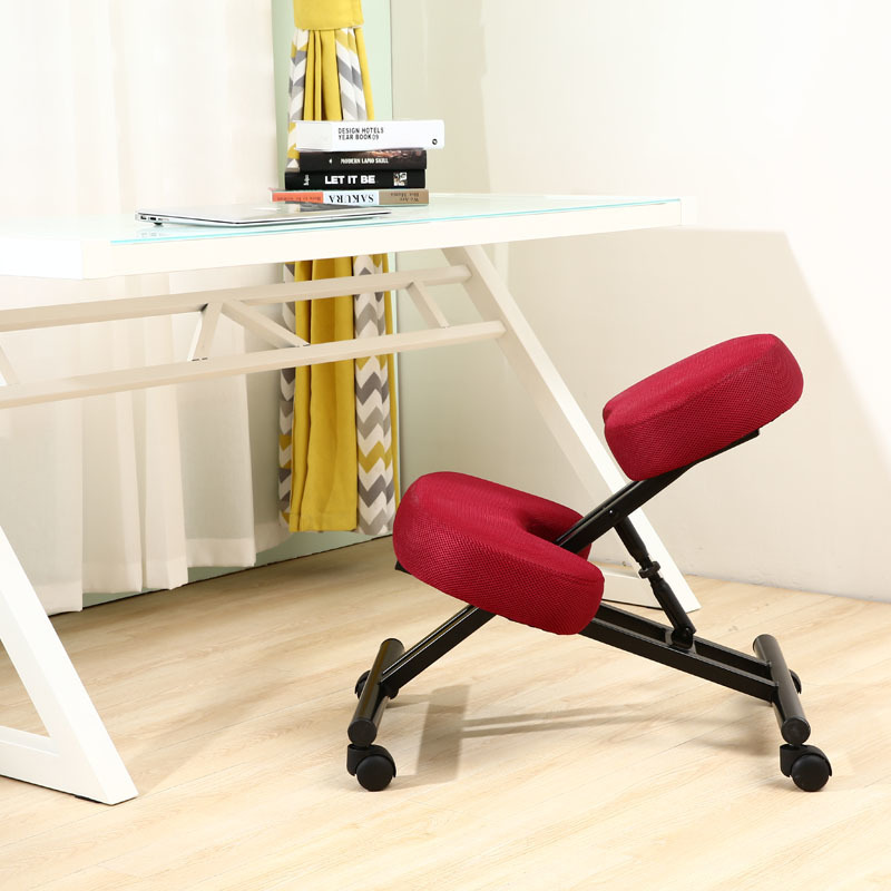 Ergonomically Designed Kneeling Chair Fabric Cushion Seat Modern Office Furniture Computer Chair Ergonomic Posture Knee Chair in Office Chairs from Furniture