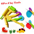 6 pçs/lote areia polymer clay inteligente plasticina playdough handgum modelagem molde ferramentas argila do polímero molde crianças brinquedos slime