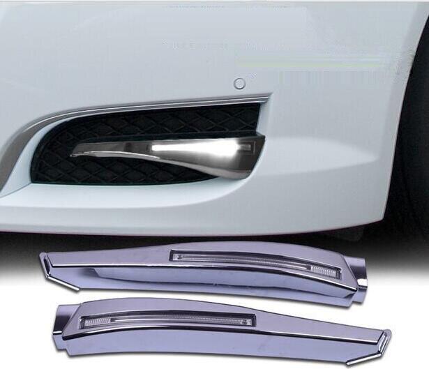 1set LED daytime running lights for Jaguar XF car accessories 2008~2010year front fog lamp drl for Jaguar XF bumper light