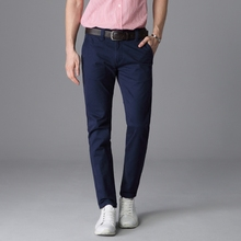 TANLIYINFU Spring summer quality Casual Pants Men Brand Black Work Pants Clothing Slim Fit Cotton Formal