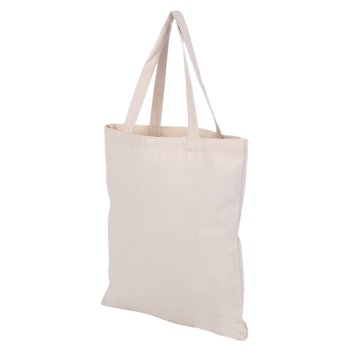 FGGS-Beige Canvas Shopping Shoulder Top Tote Shopper Bag Case Envelope M