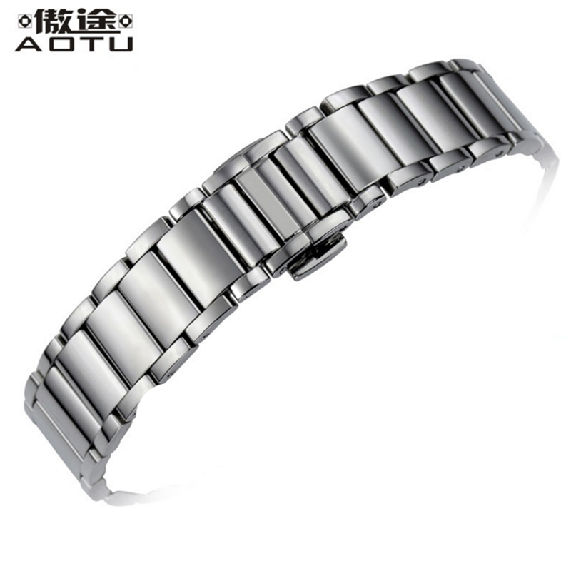 15mm Stainless Steel Watchbands For Tissot 1853 T007 Ladies Watch Bracelet Belt Women Watch Band Metal Watch Straps For Female все цены