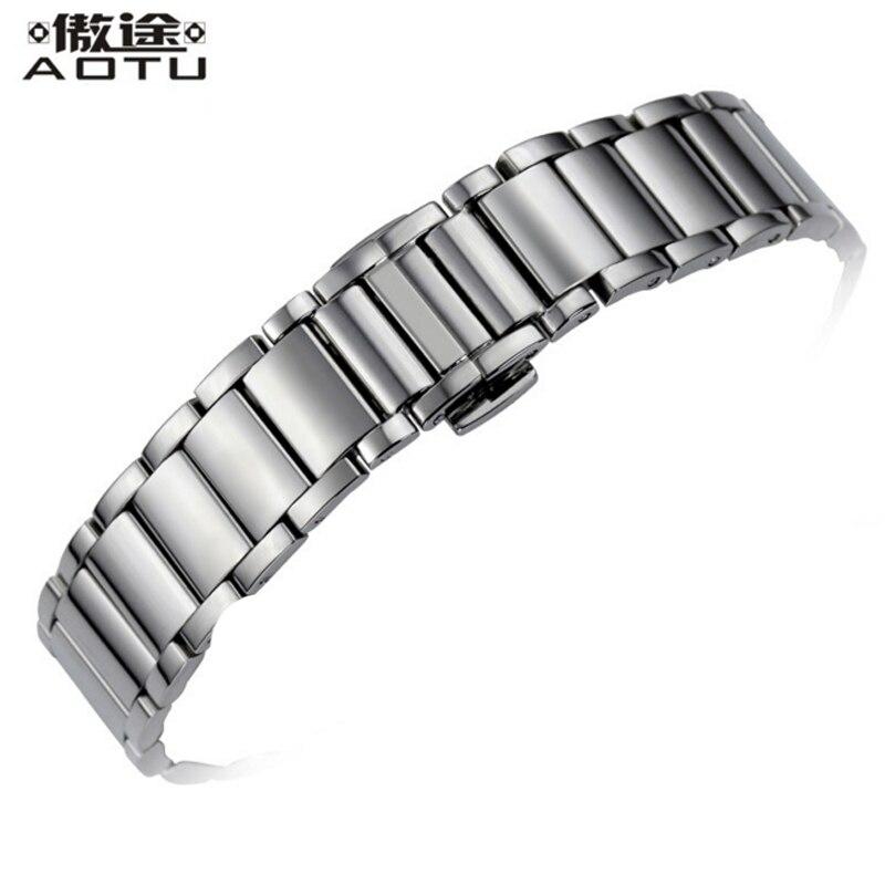 Bracelets de montre en acier inoxydable 15mm pour Tissot 1853 T007 dames montre Bracelet ceinture femmes Bracelet de montre en métal bracelets de montre pour femme