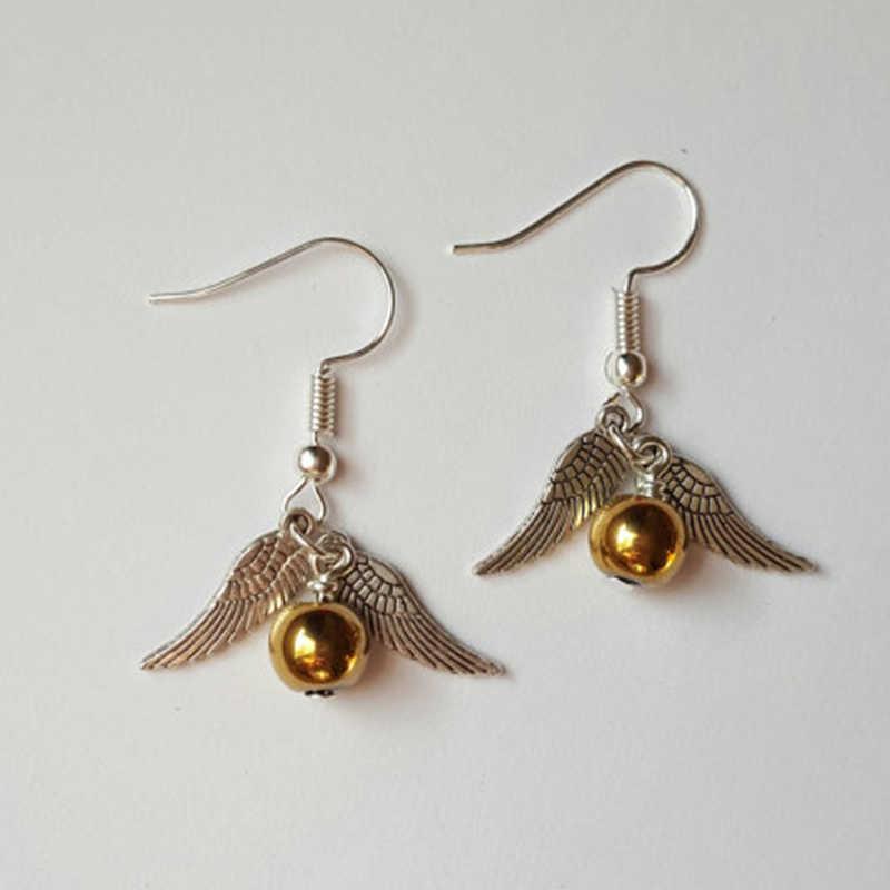 Bijoux de film chaud le mouchard doré Harry Porter boucles d'oreilles personnalité femmes boucles d'oreilles en gros ER002