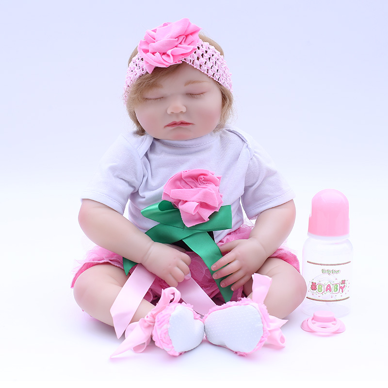 Bebes reborn real dolls 20  silicone reborn baby dolls toys for children birthday gift cotton body sleeping menina bonecas  Bebes reborn real dolls 20  silicone reborn baby dolls toys for children birthday gift cotton body sleeping menina bonecas