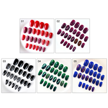 24pcs Nature Clear False Nails Finished Full Cover Nail Tips Press on art  For bride Gel Polish Manicure
