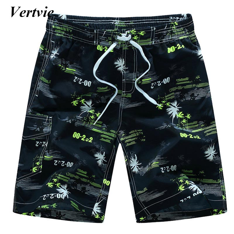 Vertvie Summer Quick Dry Beach   Shorts   Men Printed Swim   Board     Shorts   Surfing Beach   Shorts   Plus Size   Shorts   Pocket Clothing
