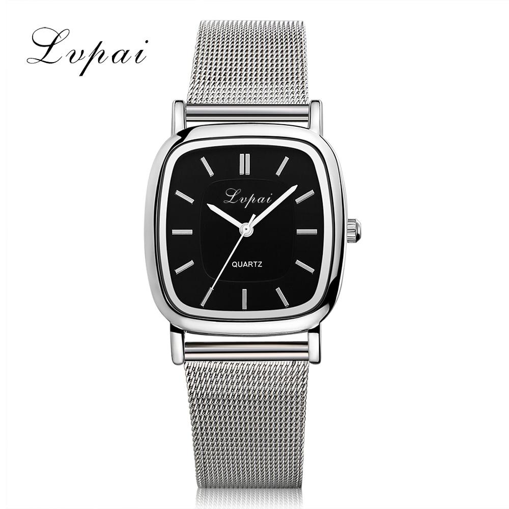 LVPAI Brand  New Lovers Watch Silver Luxury Ladies WristWatches Women Fashion Bracelet Watch Sport Women Dress Watches