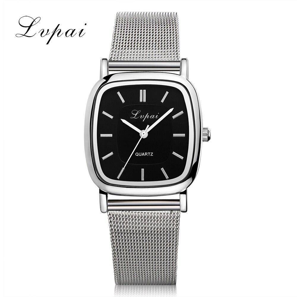 LVPAI Brand New Lovers Watch Silver Luxury Ladies WristWatches Women Fashion Bracelet Watch Sport Women Dress Watches LP164
