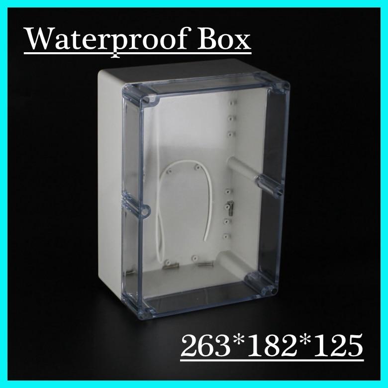 263*182*125mm Plastic Sealed Junction Box Enclosure Ip66 Waterproof Plastic Enclosure Pcb Cases surface mounted plastic sealed electric junction box case 230x126x80mm