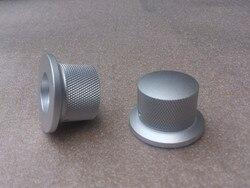Envío Gratis diámetro 38mm, 29mm diámetro del vástago, alta 25mm pura aleación de aluminio sólido amplificador de potencia de Audio volumen potenciómetro Knob