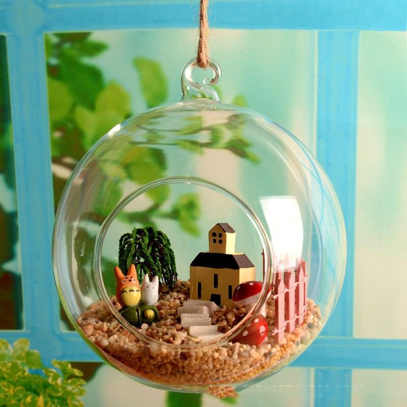 1pcs Transparent Clear Wall Hanging Glass Vase Terrarium Plants Flower Hydroponic Landscape Diy Bottle Candlestick Home Decor 25