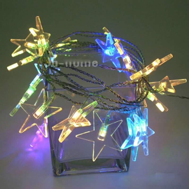 10M 50 udhëhequr me Lucky Star Shaped LED Light String for Party - Ndriçimi i pushimeve