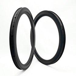 Felgi węglowe bmx obrecz 20 cal składany rower felgi 406 50x25mm cl cal er składany rower obręczy bmx 20 koła roweru 330g