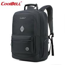 Cool bell impermeable 18.4 pulgadas hombres mujeres mochila portátil a prueba de golpes mochila bolsa de negocios para 10-17.6 pulgadas ordenador portátil