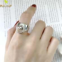 Женское кольцо с большим кольцом flyleaf из стерлингового серебра